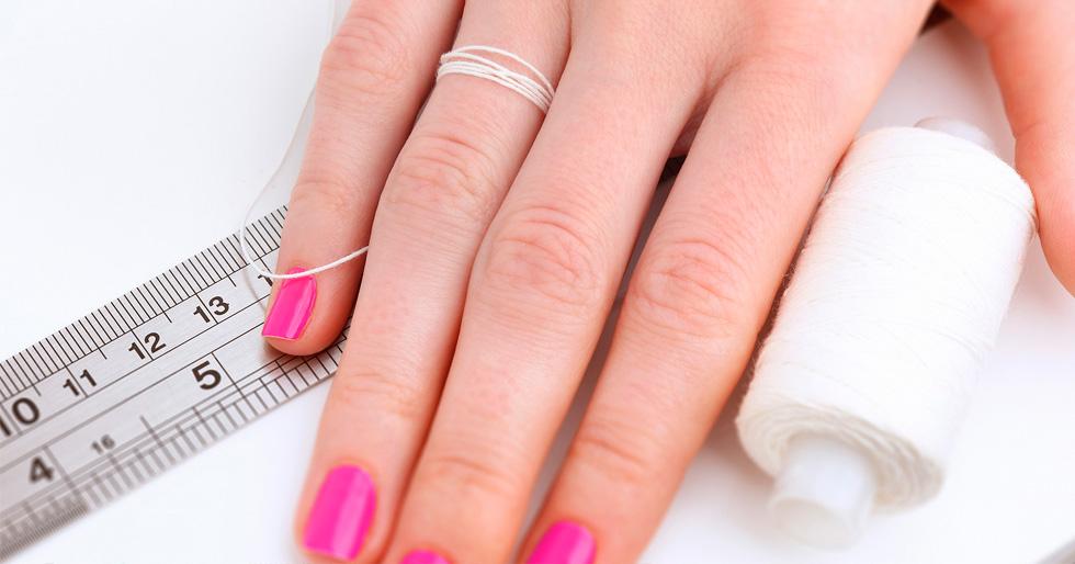 Измеряем размер пальца для кольца дома